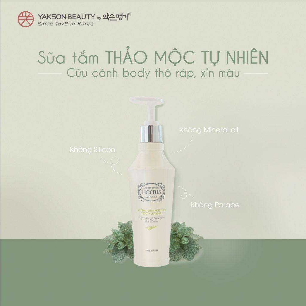 Herbis Aroma Touch Moisture Body Cleanser